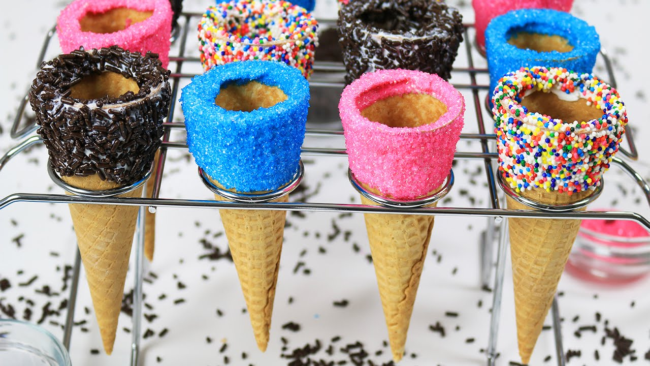 How to Decorate Ice Cream Cones - Dalya Rubin - It's Raining Flour Episode 84