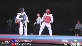 World Taekwondo Championships 2013 Puebla Final +73 kg (RUS) vs (MEX)
