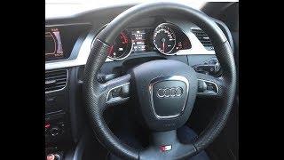#21 ステアリングのテカリ取り/メラミンスポンジ【Audi A5】 thumbnail
