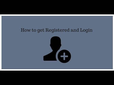 How To Get Registered & Login