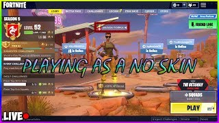 🔴LIVE FORTNITE TROLLING WITH A NO SKIN AND I PUT MY YOUTUBE NAME SO PEOPLE WOULD COME TALK SMACK!!!