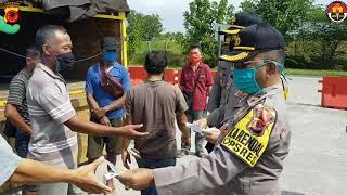 PSBB Hari Kedua, Waka Polres Majalengka Lakukan Pengecekan Pos Check Point Tertibkan Pengendara