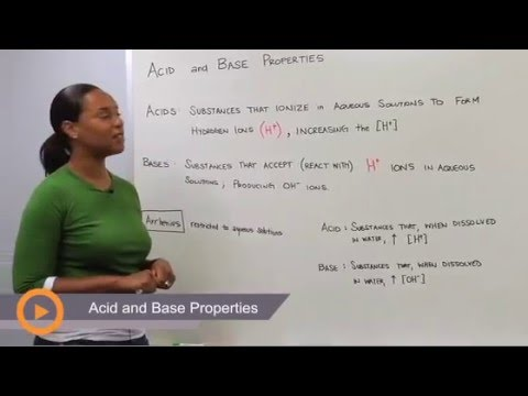 Acid and Base Properties