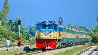 Kalni Express passing Srinidhi Station with Good speed || Dhaka Sylhet Kalni Express