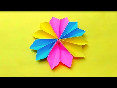 Cara Membuat Bunga 3 Warna Dari Kertas Origami Kerajinan Tangan Dari Kertas Origami Youtube