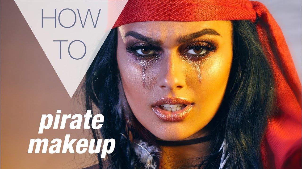 Pirate Halloween How To Makeup Tutorial Youtube