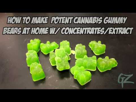 How To Make Potent Cannabis Gummy Bears At Home W/ Concentrates Or Extract