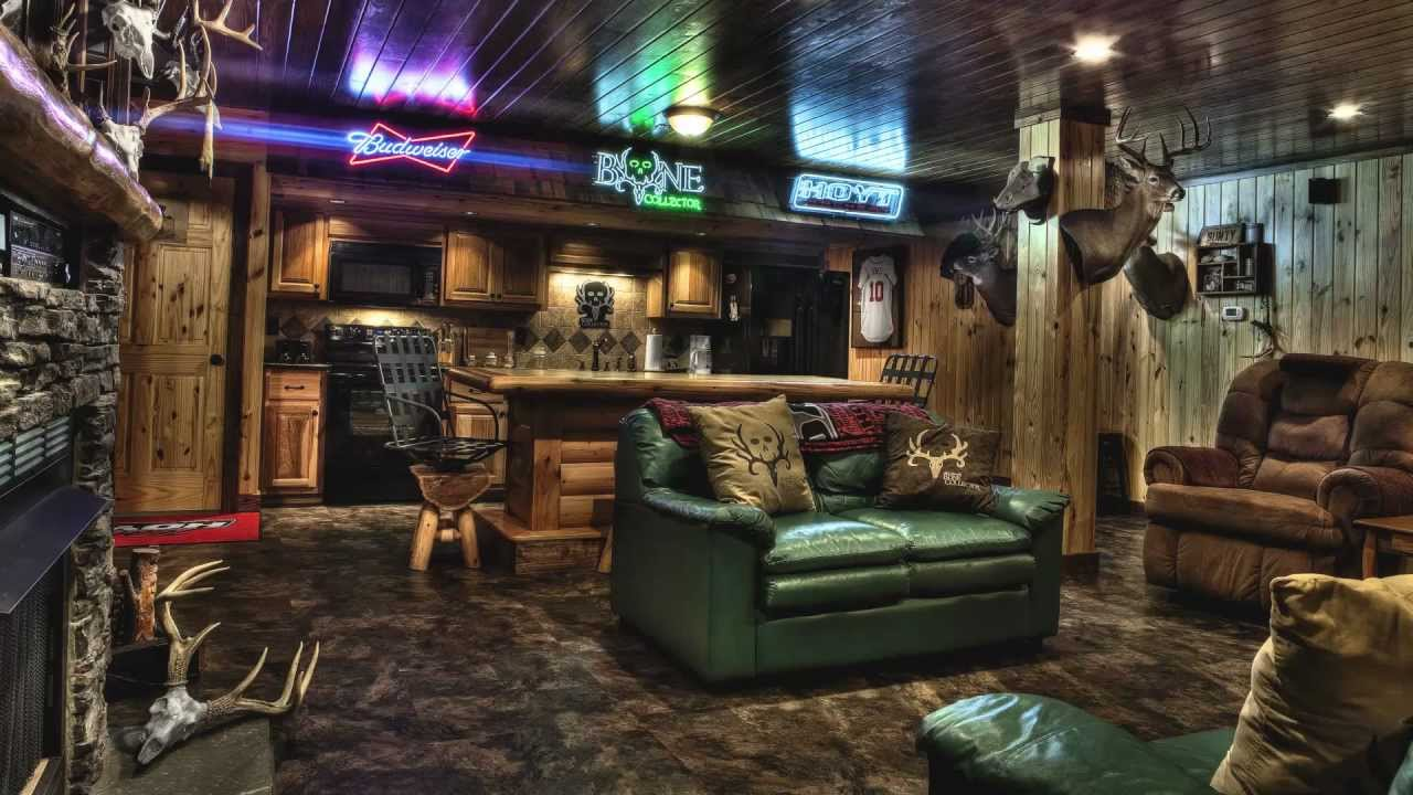 Hunters Man Cave Signs : Travis t bone turner's man cave.mp4 youtube