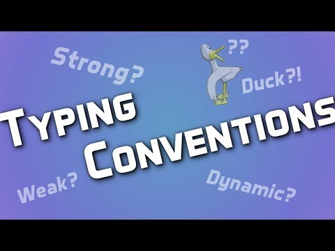 Programming: Typing Conventions