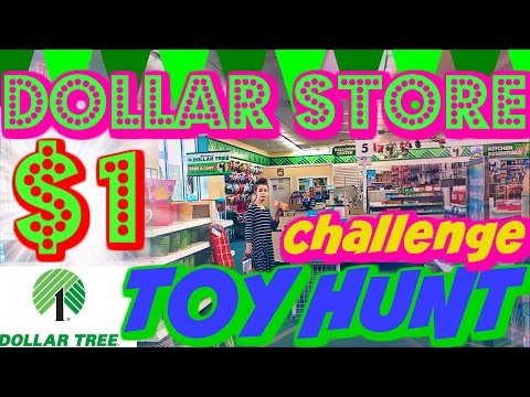 TOY HUNT SHOPPING for DOLLAR STORE CHALLENGE HAUL $1 1 dollar store TEST