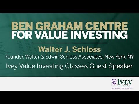 2008 Ivey Value Investing Classes Guest Speaker: Walter J. Schloss
