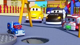 Süper Kamyon Carl ve Mini kamyon, Araba Şehri'nde | Çocuklar için kamyon çizgi filmi