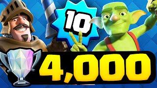 Clash Royale - Level 10 - 4,000 Trophies!