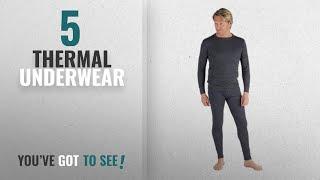 Top 10 Thermal Underwear [2018]: Mens Thermal Underwear - Sets 2 Long Sleeve Vests & 2 Long Johns