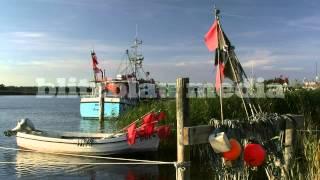 Stock Footage Europe Germany Baltic Sea Fischland Darß Zingst Nothafen Ostsee Travel Harbour