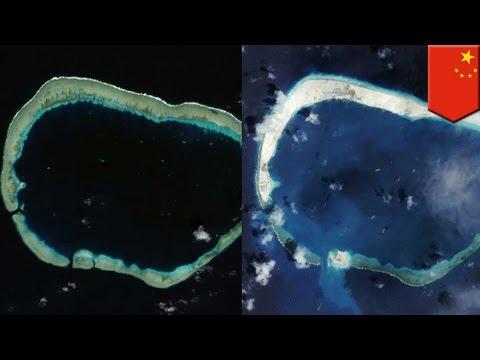 China nagsasagawa ng pangatlong airstrip sa pinagtatalunan na Spratly Islands - TomoNews