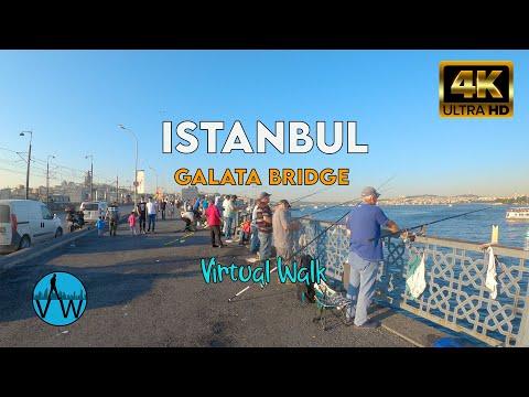 ⁴ᴷ⁵⁰ ISTANBUL WALK 🇹🇷 from Eminönü to Karaköy on Galata Bridge.