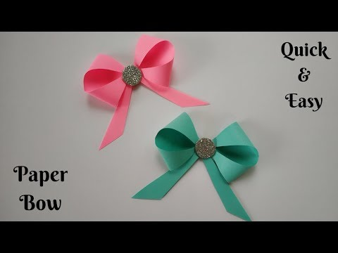 DIY Paper Bow | Paper Ribbon | Paper Craft Ideas | Quick & Easy