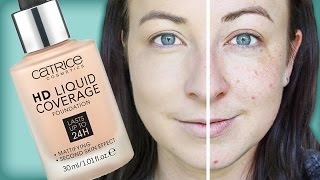 Catrice HD Liquid Coverage Foundation - Demo & Review - Drugstore Makeup