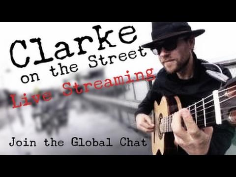 February 2, 2017 - Clarke on the Street - live stream show - San Francisco Street Performer