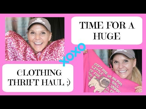 Time for a Huge Clothing Thrift Haul Try-On