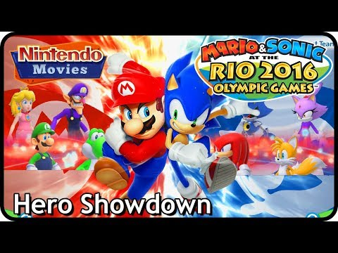 Mario and Sonic at the Rio 2016 Olympic Games - Hero Showdown Compilation (2 Player Versus)