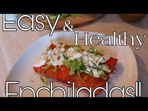 Healthy Chicken Enchiladas!
