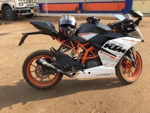 KTM rc 390 with modified M4 exhaust