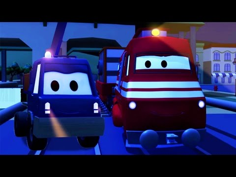 Troy The Train and the Cherry Picker Truck in Car City   Cars & Trucks cartoon for children