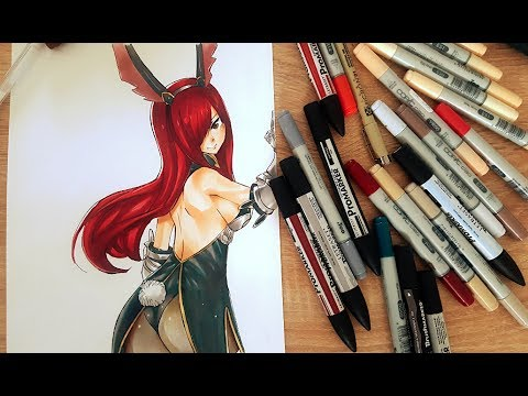 Speed painting erza scralet fairy tail armure chapitre 515 youtube - Dessin armure ...