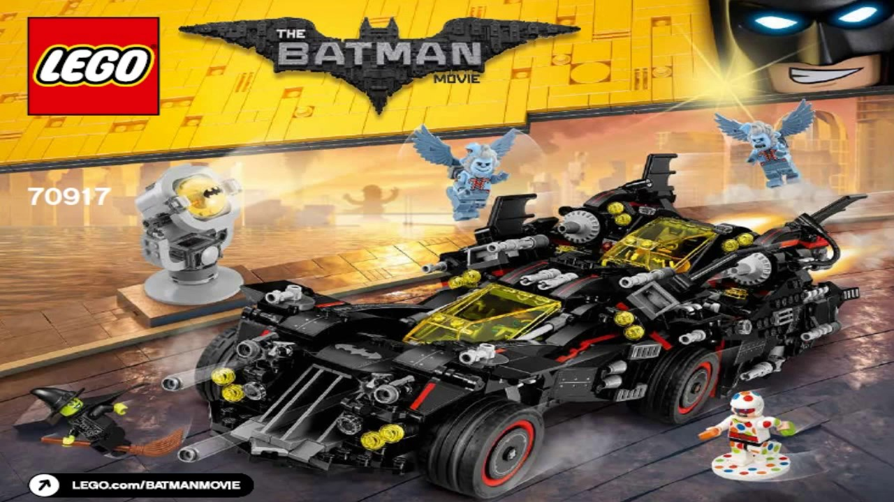 LEGO Batman Movie 2017 THE ULTIMATE BATMOBILE 70917 - YouTube
