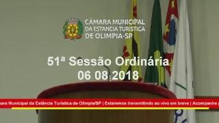 51ª Sessão Ordinária 2018 06-08-2018