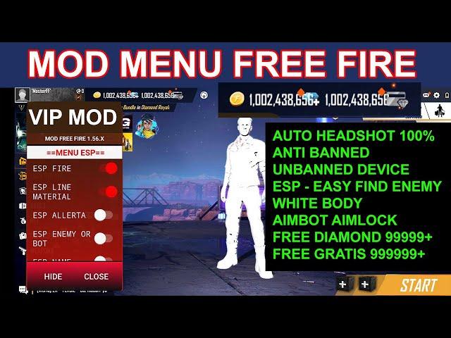 FREE FIRE MOD MENU 1.57 x TERBARU GRATIS DIAMOND (UPDATE 2021)