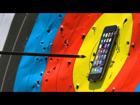 Can iPhone 6S Survive An Arrow From Over 100 FT Away?