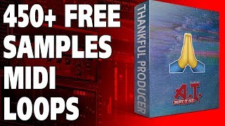FREE 450+ Samples MIDI and Loops For Producer and Beat Makers