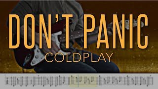 Don't Panic - Coldplay |HD Guitar Tutorial With Tabs