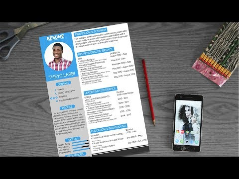 How to create a CV / RESUME