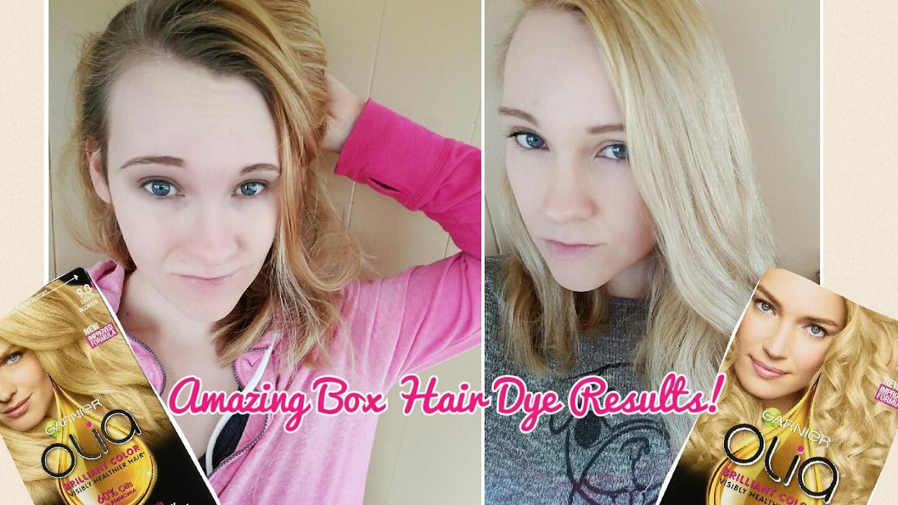 Garnier Olia Hair Dye Amazing Box Hair Color Results Youtube