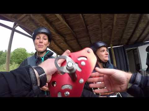 Tez, Katy and Tina Zipping at NDAC