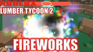 Roblox: Lumber Tycoon 2: The CRAZIEST FIREWORKS EVER in LT2 | SERVER CRASH
