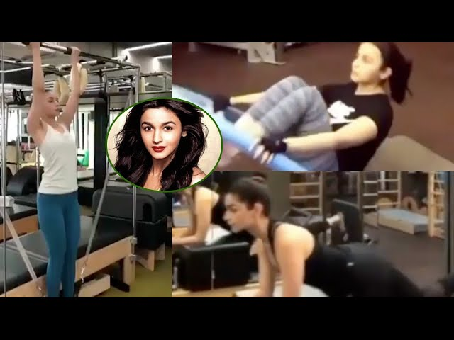Alia Bhatt Full Body Workout In Gym | Alia's Best Gym Outfit.