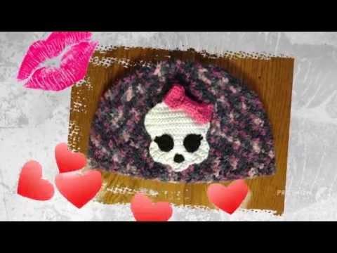 Crochet Skullette Applique Pattern Youtube