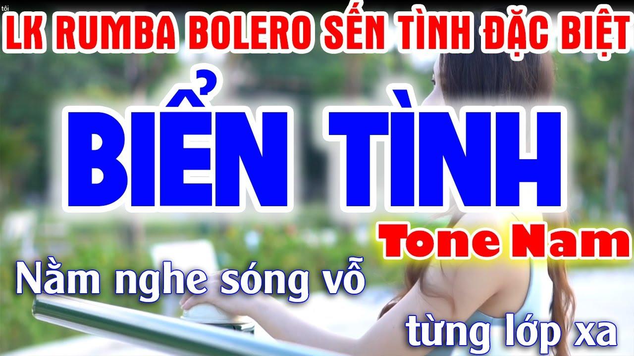 Download Biển Tình Karaoke Nhạc Sống Tone Nam | Liên Khúc Rumba Bolero Sến Tình Đặc Biệt - Tình Trần organ