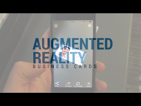 Augmented Reality Business Cards - Card Augmentation