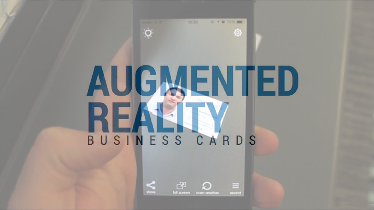 Augmented reality business cards card augmentation youtube augmented reality business cards card augmentation reheart Choice Image