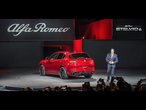 Alfa Romeo Stelvio Global Reveal I 2016 Los Angeles Auto Show I Alfa Romeo USA