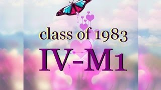 Jose P. Laurel High presents IV-M1 class of 1983