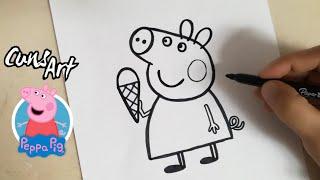 COMO DIBUJAR A PEPPA PIG FACIL | how to draw peppa pig | easy