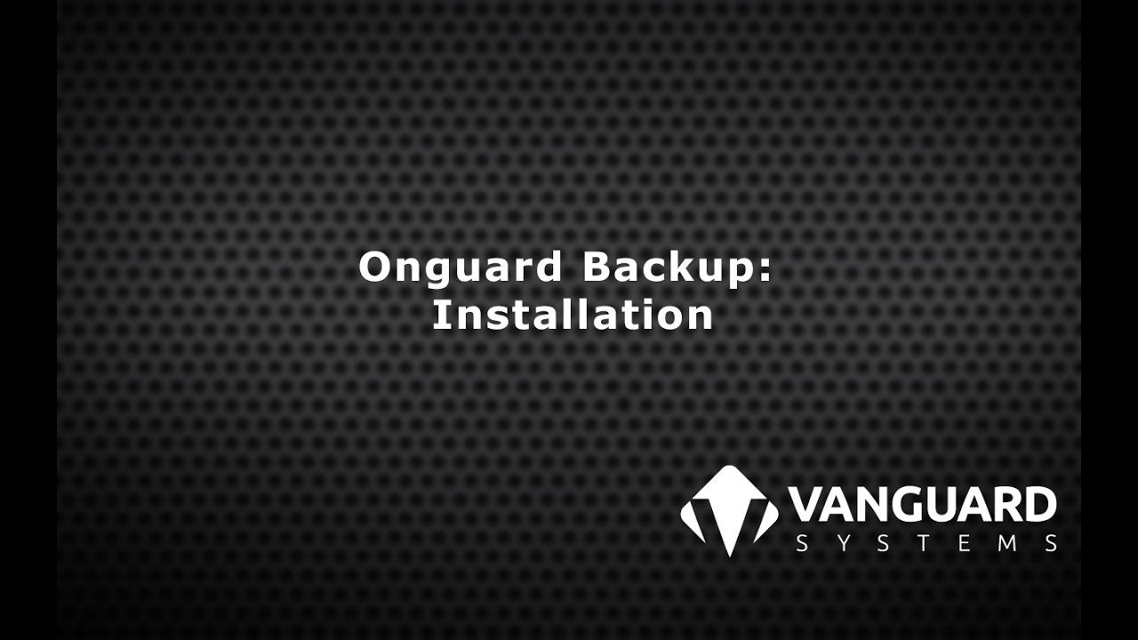 Installing Onguard Backup - YouTube