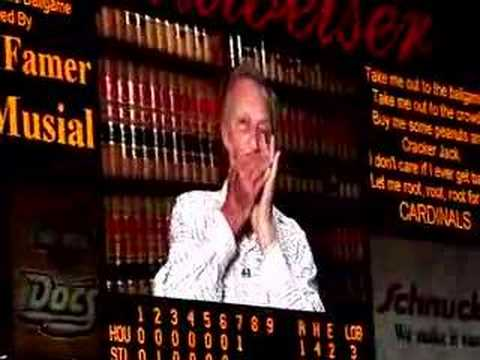 "Stan Musial plays ""Take Me Out to the Ballgame"""